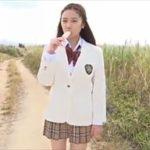 葉月ゆめグラビア動画 JK制服コスプレから極小下着の美おっぱいを野外露出