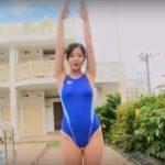 村上友梨グラビア動画 競泳水着のむっちむち感半端ない濡れたエロボディ