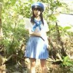 青山ひかるグラビア動画 ベレー帽の巨乳ガールスカウトが森の川辺で脱ぐ・・