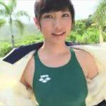 森川彩香グラビア動画 屋外プールで魅せる競泳水着の美ボディライン