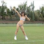 太田和さくらグラビア動画 スポーツブラ&ショーツの美乳ボディを野外露出