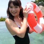 星名美津紀グラビア動画 レオタード水着のボイン感がエロいツインテール女子
