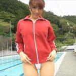 森咲智美グラビア動画 赤ジャージを脱いで魅せる白レオタード水着の極上ボディ