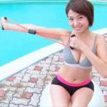 中村静香グラビア動画 ずっと見ていたいプールサイドの綺麗なお姉さん