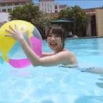 水沢柚乃グラビア動画 白いレオタード水着のぷるるんおっぱいボディ