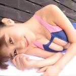 原幹恵グラビア動画 ポロリしそうでドキドキな穴あき競泳水着の巨乳美女