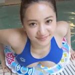 葉月ゆめグラビア動画 穴開きアリーナ競泳水着から零れ落ちそうなおっぱい・・