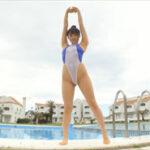 佐藤望美グラビア動画 ハイレグ&ハイネック競泳水着でエロやばい性的ポーズ