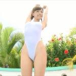 森川彩香グラビア動画 ハイレグワンピ水着で魅せる華奢な美ボディライン
