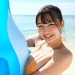 我妻ゆりかグラビア動画 オレンジビキニのエロかわ巨乳美女オンザビーチ!